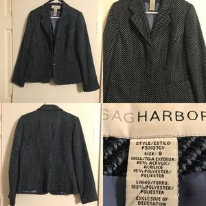 🦄 Sag Harbor Sz 8 Blue And Navy Blazer